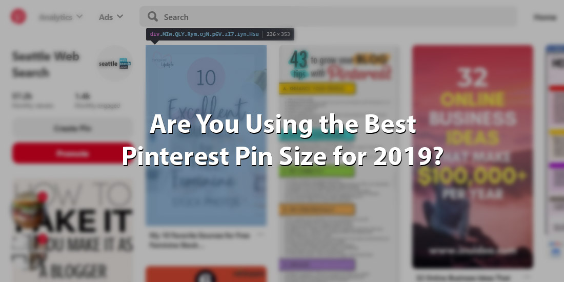 Are You Using the Best Pinterest Pin Size for 2019?