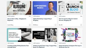 online blogging classes