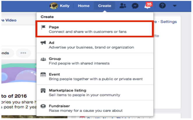"""""""Create Page"""" Instructions for Facebook Business Page"""