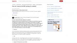 how to use quora for digital marketing answering questions