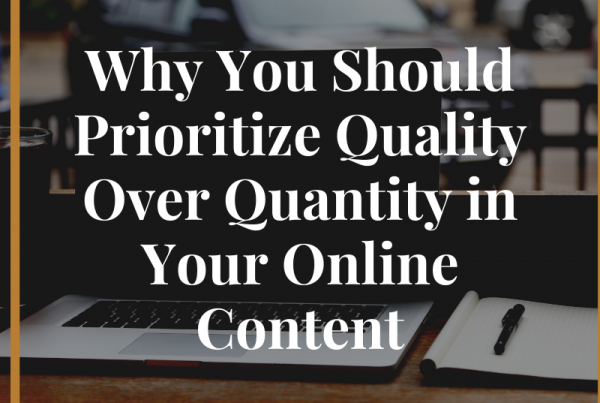 Quality over Quantity Featured Image
