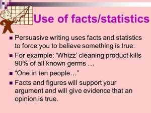 Persuasive Writing - Facts