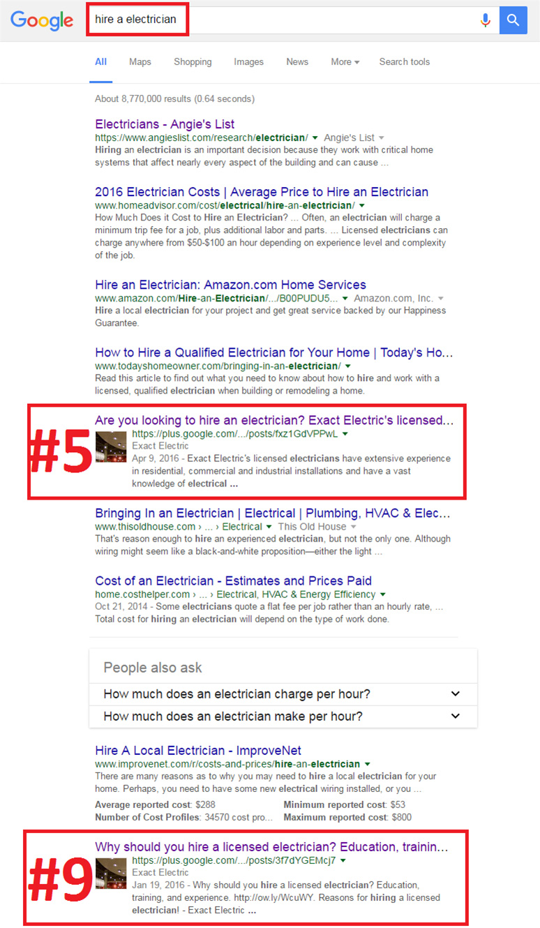 Seattle SEO Case Study: Exact Electric - Seattle Electrician