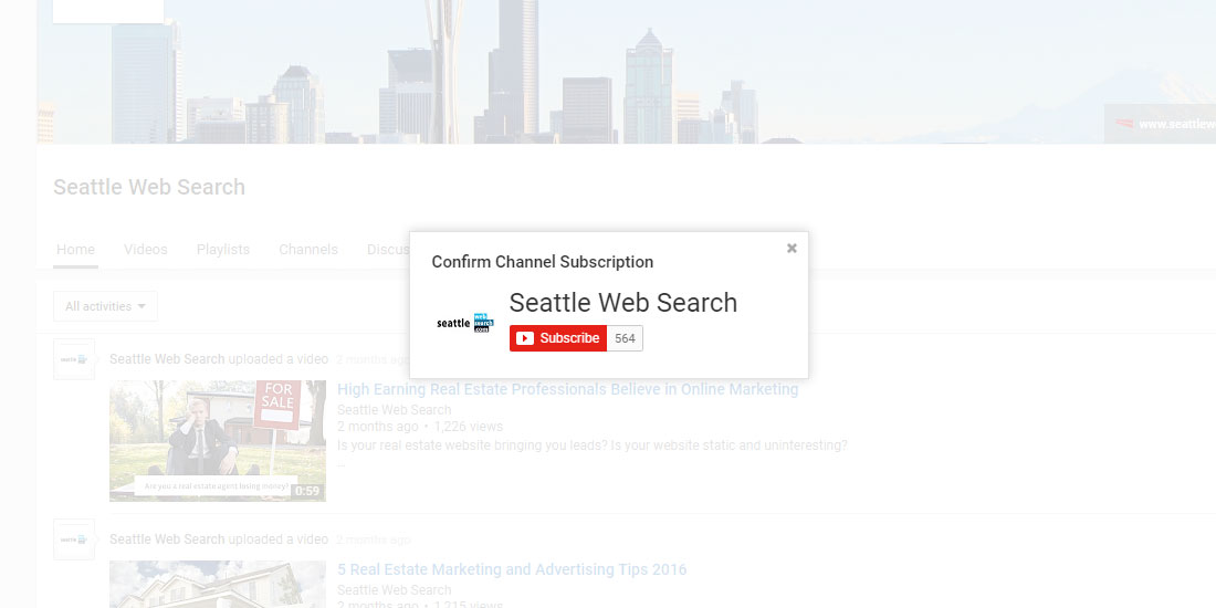 how to search for a youtube channel